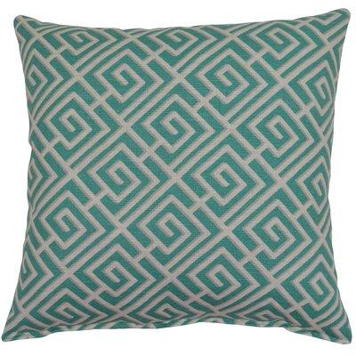 Quadrotto Cotton Throw pillow Color: Carribbean