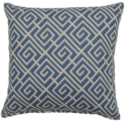 Quadrotto Cotton Throw pillow Color: Slate