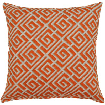 Quadrotto Cotton Throw pillow Color: Tango