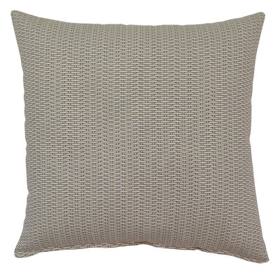 Basketweave 100% Cotton Throw Pillow Color: Slate