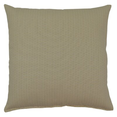 Basketweave 100% Cotton Throw Pillow Color: Sand