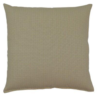Basketweave 100% Cotton Throw Pillow Color: Sand