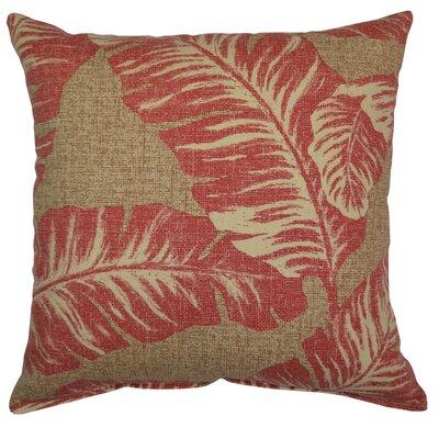 Spathariko Throw Pillow Color: Lava