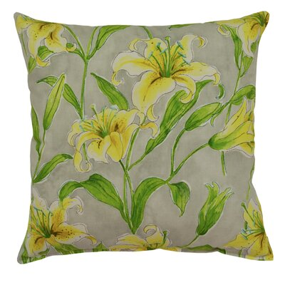 Metcalfe Lily Cotton Throw Pillow