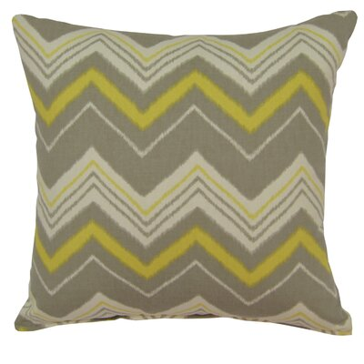 Carney 100% Cotton Throw Pillow Color: Green/Gray
