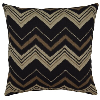Carney 100% Cotton Throw Pillow Color: Graphite