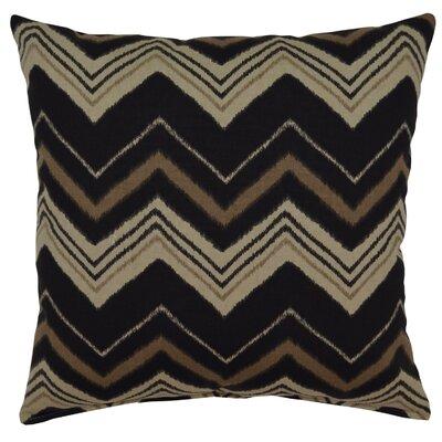 Carney 100% Cotton Throw Pillow Color: Graphite