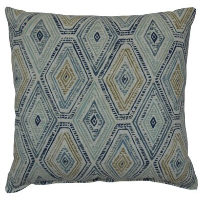 Dacey 100% Cotton Throw Pillow Color: Bluestone