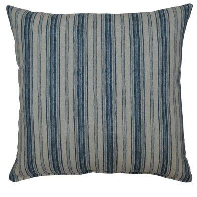 Kenzie 100% Cotton Throw Pillow Color: Denim