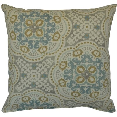 Mable 100% Cotton Throw Pillow Color: Spa