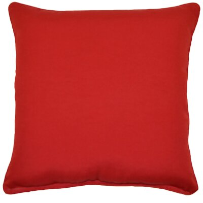 Margaux Cord Outdoor Throw Pillow Color: Red