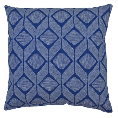 Mobley Cotton Throw Pillow Color: Cobalt