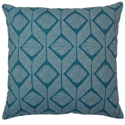 Mobley Cotton Throw Pillow Color: Turquoise