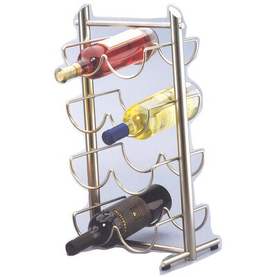 Angles Metalware 8 Bottle Tabletop Wine Rack (Set of 2)
