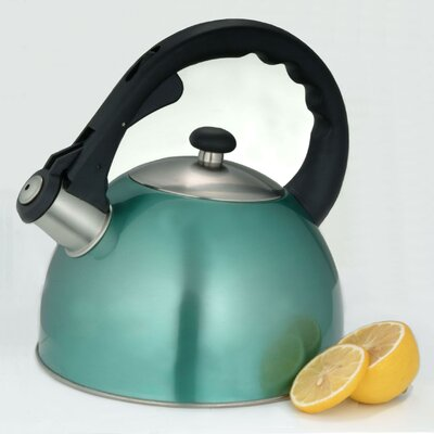 Creative Home Satin Splendor 2.8-qt. Whistle Tea Kettle - Color: Metallic Aqua at Sears.com