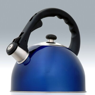 Creative Home Satin Splendor 2.8-qt. Whistle Tea Kettle - Color: Metallic Blue at Sears.com