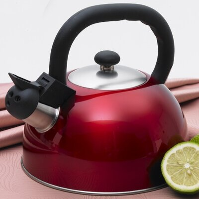 CREATIVE HOME Satin Mist 2.6-qt. Whistle Tea Kettle - Color: Metallic Cranberry at Sears.com