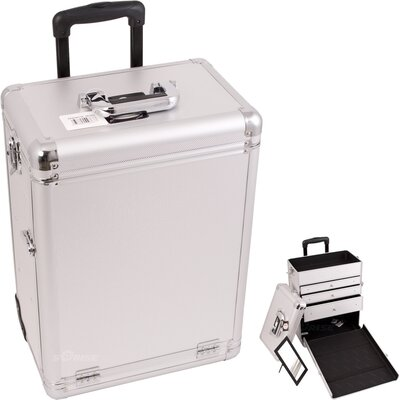 Sunrise Cases Interchangeable Professional Rolling Cosmetic Makeup Case - Color: Silver Dot at Sears.com
