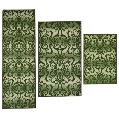 Madison Home 3 Piece Madrid Green Area Rug Set
