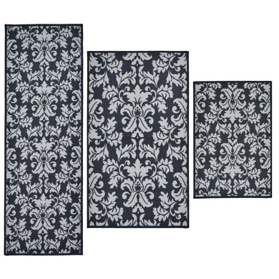 Madison Home 3 Piece Versailles Blue Area Rug Set