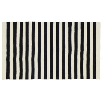 Cabana Handmade Black Indoor/Outdoor Area Rug Rug Size: 3 x 5