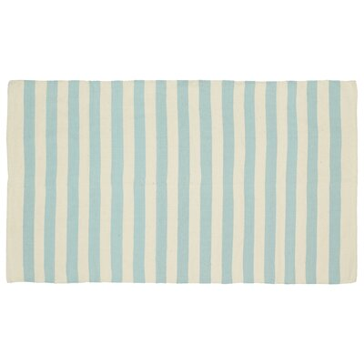 Cabana Handmade Light Blue Indoor/Outdoor Area Rug Rug Size: 4 x 6