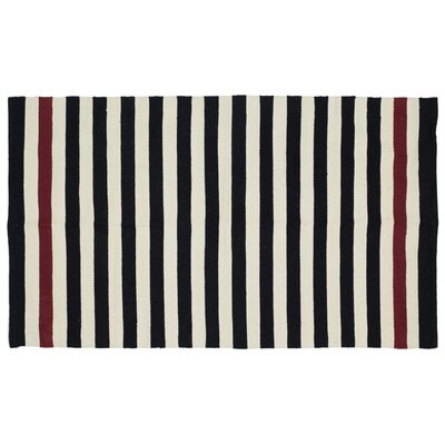 Cabana Black Area Rug Rug Size: Rectangle 5 x 7