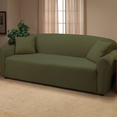 Floral Stretch Jersey Sofa Slipcover Color: Forest