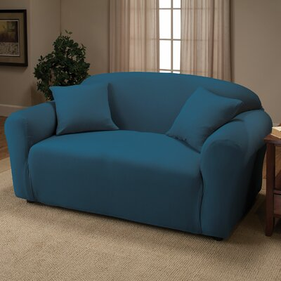 Stretch Jersey Loveseat Slipcover Color: Cobalt Blue