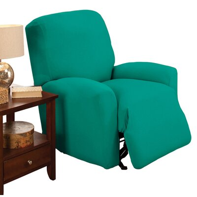 Box Cushion Recliner Slipcover Color: Aqua