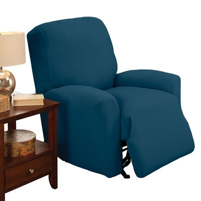 Stretch Jersey Large Recliner Slipcover Color: Cobalt Blue