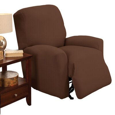 Stretch Jersey Solid Large Recliner Slipcover Color: Brown