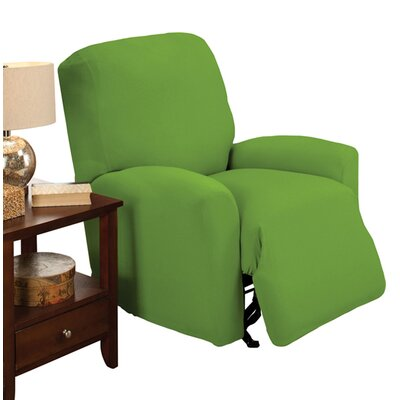 Stretch Jersey Solid Large Recliner Slipcover Color: Lime