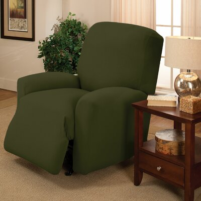 Box Cushion Recliner Slipcover Color: Forest