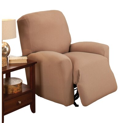 Box Cushion Recliner Slipcover Color: Linen