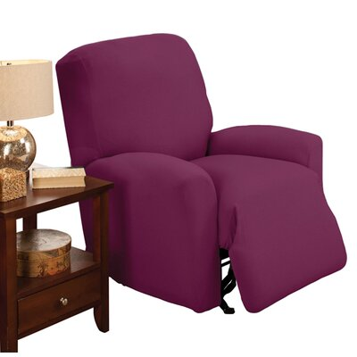 Box Cushion Recliner Slipcover Color: Purple