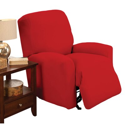 Stretch Jersey Solid Large Recliner Slipcover Color: Red