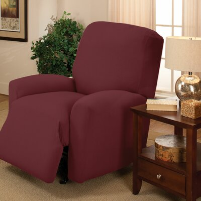 Stretch Jersey Solid Large Recliner Slipcover Color: Ruby
