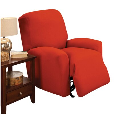 Box Cushion Recliner Slipcover Color: Tangerine
