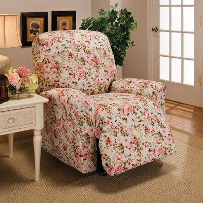 Stretch Jersey Solid Recliner Slipcover Color: Pink