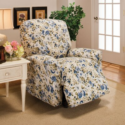 Stretch Jersey Solid Recliner Slipcover Color: Blue