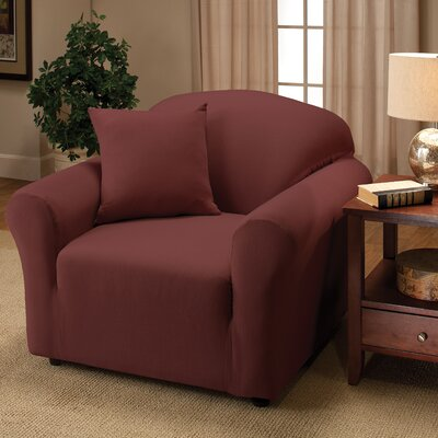 Box Cushion Armchair Slipcover Color: Ruby