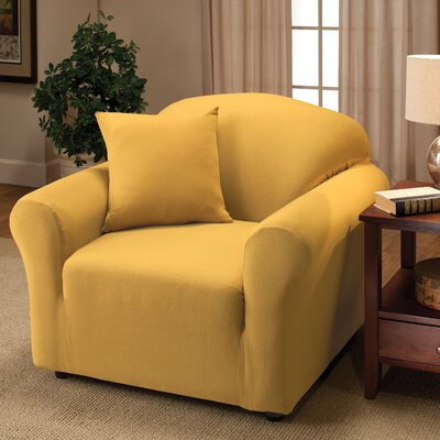 Box Cushion Armchair Slipcover Color: Yellow
