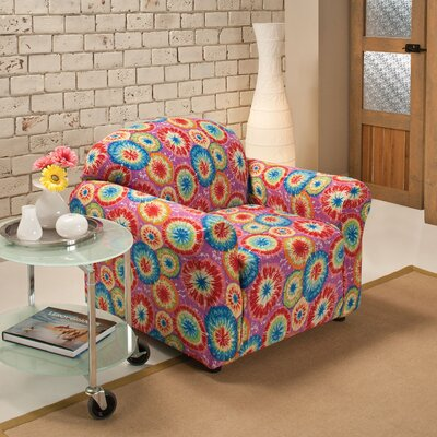 Box Cushion Armchair Slipcover Color: Tie Dye