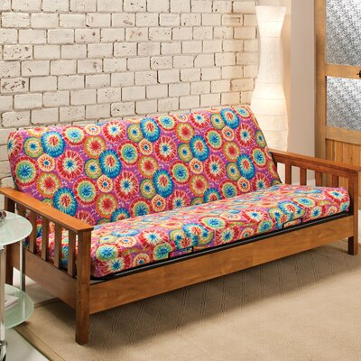 Patterned Box Cushion Futon Slipcover Upholstery: Tie Dye