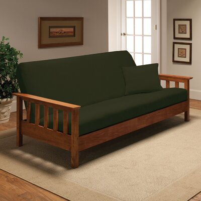 Box Cushion Futon Slipcover Upholstery: Forest