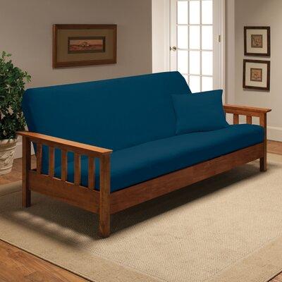 Futon Slipcover Upholstery: Cobalt Blue