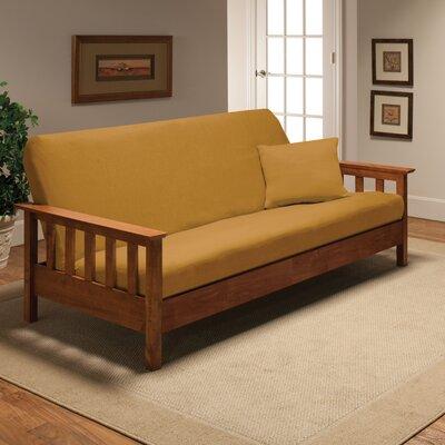 Box Cushion Futon Slipcover Upholstery: Yellow