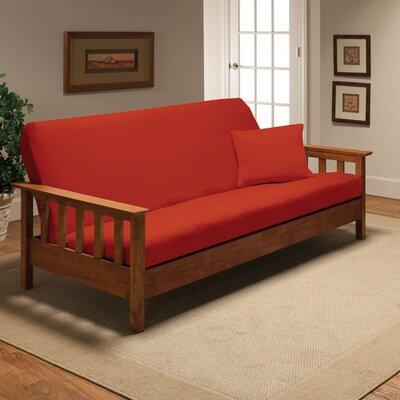 Box Cushion Futon Slipcover Upholstery: Tangerine