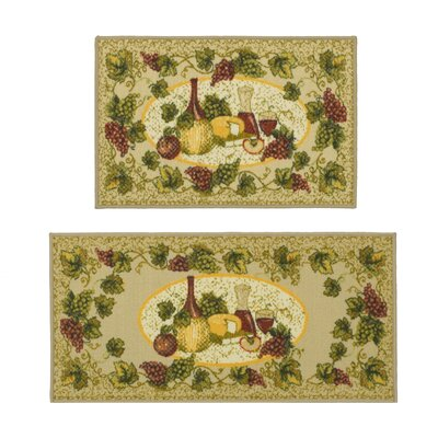Chianti 2 Piece Beige Novelty Rug Set